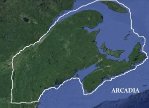 The free territory known as Arcadia is composed of land currently making up the states of VT, NH, ME and parts of Nova Scotia, Canada.