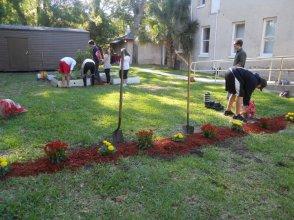 Flagler garden cleanup