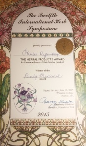 IHS Herbal Product Award