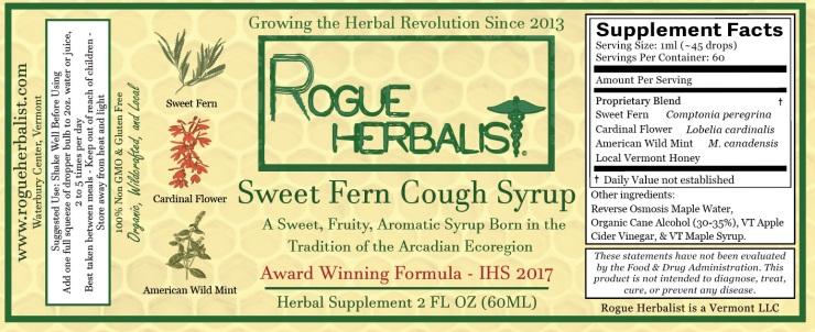 Sweet Fern Cough Syrup 2oz
